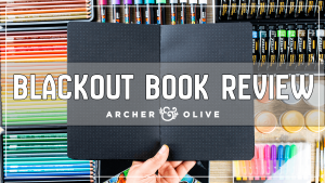 archer and olive blakcout bullet journal notebook book